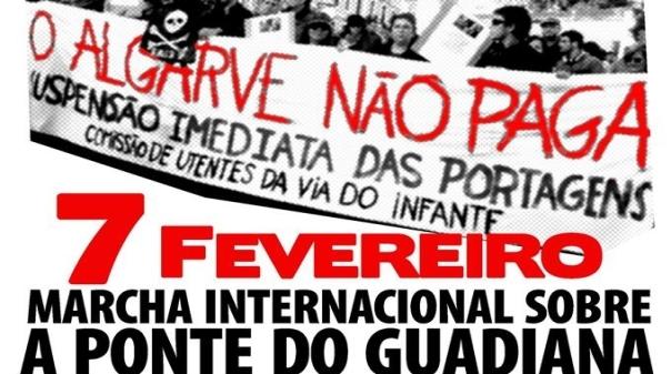 Plataforma Hispano-Portuguesa Contra as Portagens na A22 promove marcha sobre a Ponte Internacional do Guadiana