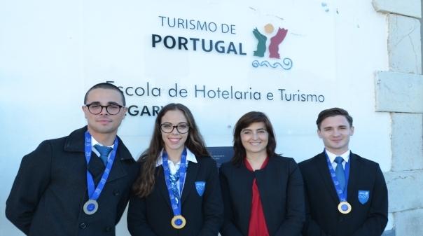 """Alunos da Escola Hotelaria e Turismo do Algarve """"brilham"""" a nível europeu"""