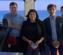 Presidente da Câmara de Tavira e Diretor-Geral da DGRM acompanharam dragagens no Porto de Tavira