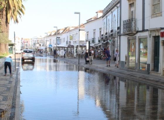 Marés vivas voltaram a visitar Baixa de Tavira