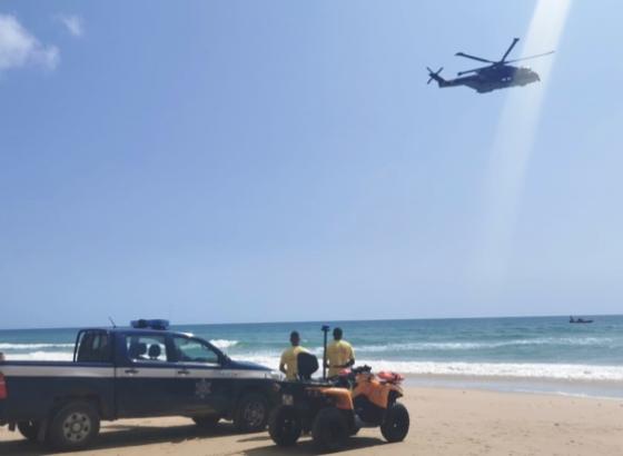 Interrompidas buscas por jovem desaparecido na praia das Furnas em Vila do Bispo
