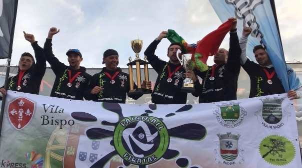 Equipa de Vila do Bispo sagra-se campeã europeia de Paintball