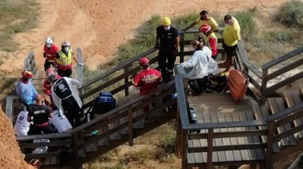 Mulher em estado grave após queda de falésia na praia do Poço Velho em Albufeira