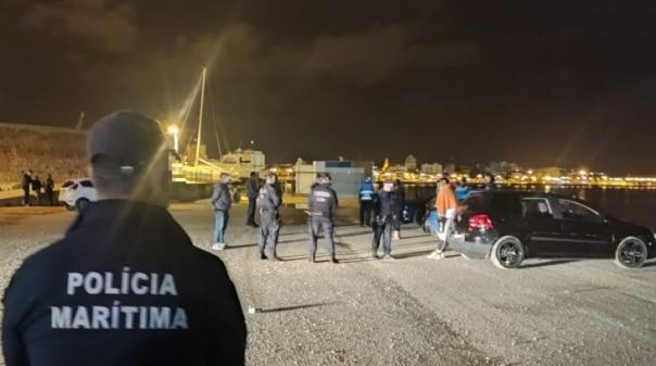Polícia Marítima e PSP fiscalizaram 56 pessoas na madrugada de sábado em Portimão