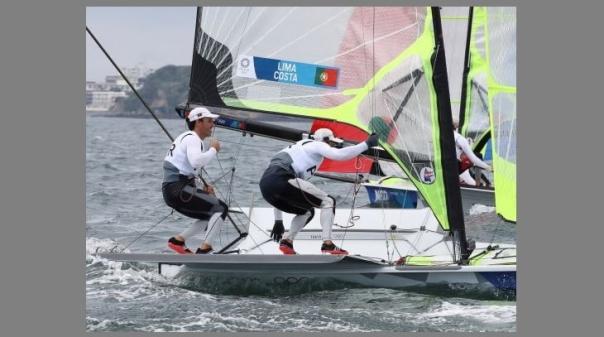 Tóquio2020: Velejadores Jorge Lima e José Costa na 'medal race' em 49er