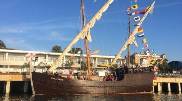 Caravela Vera Cruz vai estar em Faro e visitas são gratuitas