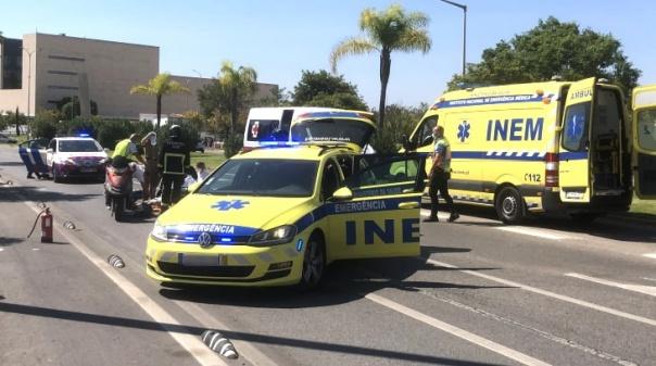 Ferido grave em despiste de motociclo em Faro